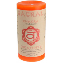 Sacral Chakra Pillar Candle