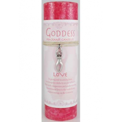 Love Pillar Candle w/ Goddess Necklace