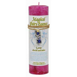 Love Pillar Candle w/ Fairy Dust Necklace