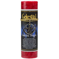 Celestial Dragon Pillar Candle w/ Ritual Necklace